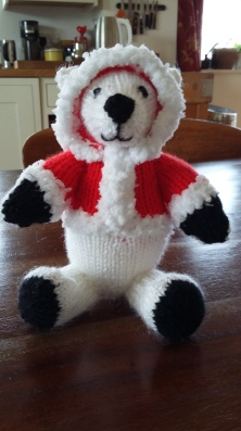 Christmas polar bear